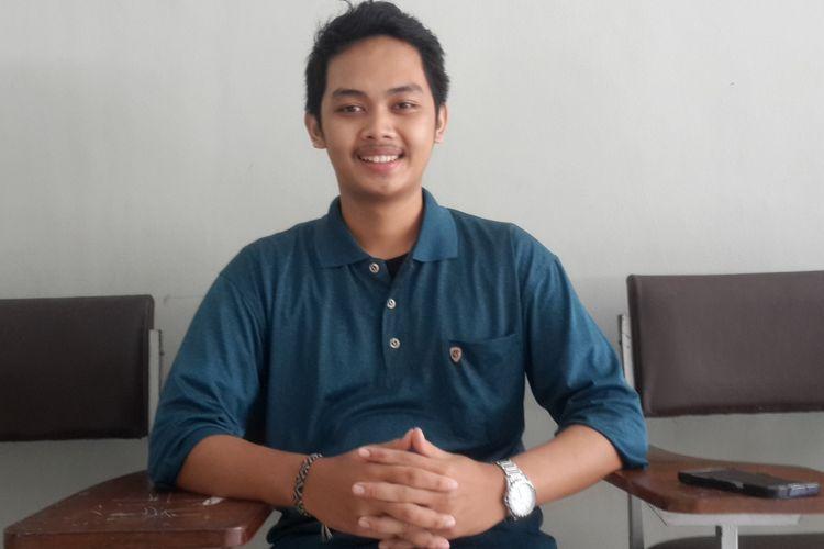 Presiden Badan Eksekutif Mahasiswa (BEM) Fakultas Teknologi Pertanian (FTP) Universitas Brawijaya (UB) Mohammad Wiranto Aris M saat diwawancara pada Jumat (26/4/2019).