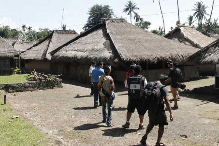 Kampung Tradisional Senaru di Kecamatan Bayan, Lombok Utara, Nusa Tenggara Barat.