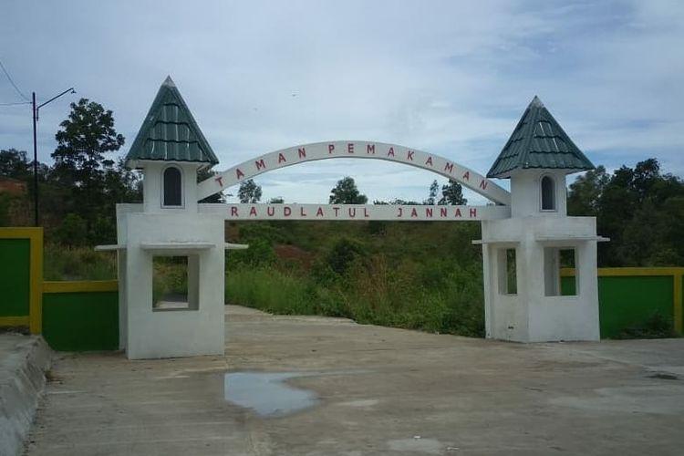 Lokasi Taman Pemakaman Raudlatul Jannah di Jalan Serayu RT 20 Kelurahan Tanah Merah, Kecamatan Samarinda Utara awal April 2020.