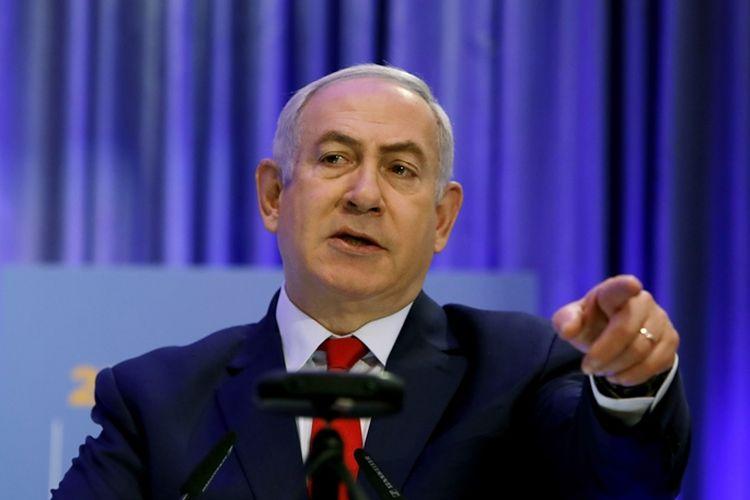 Perdana Menteri Israel Benjamin Netanyahu berbicara dalam konferensi diplomatik di Jerusalem, Kamis (7/12/2017).