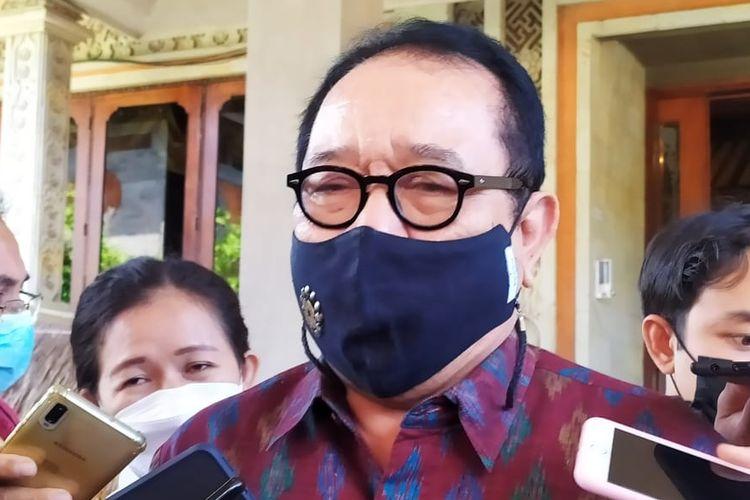 Wakil Gubernur Bali Tjokorda Oka Artha Ardhana Sukawati alias Cok Ace  di gedung DPRD Bali, Senin (19/4/2021).
