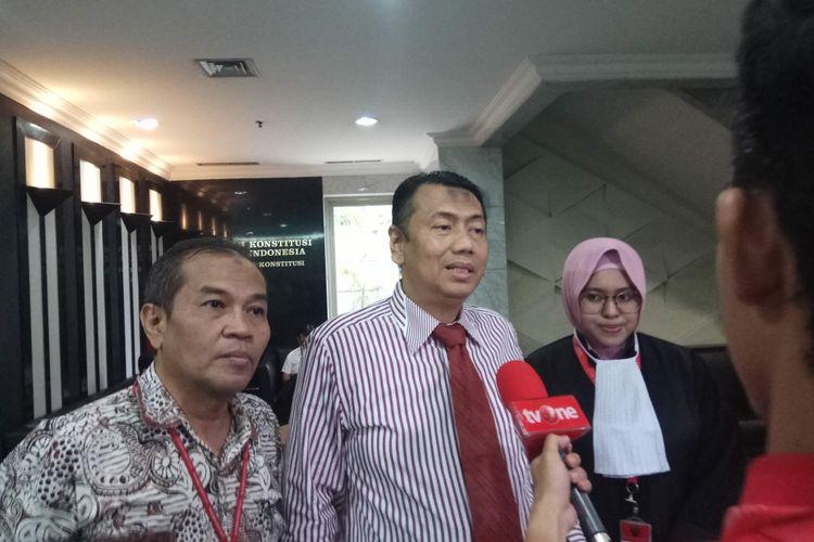 Pengacara Kapitra Ampera, ditemui usai mengikuti sidang di Mahkamah Konstitusi (MK), Jakarta Pusat, Selasa (22/8/2017)