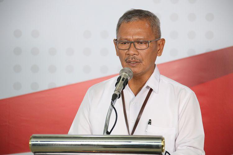 Juru bicara pemerintah untuk penanganan covid-19 Achmad Yurianto saat memberikan keterangan pers di Graha BNPB, Jakarta, Kamis (19/3/2020).