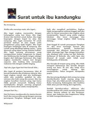 Surat yang ditulis Widya dan telah dialihbahasakan oleh temannya, Tazia Darryanto. Surat ini berisi sedikit kenangan yang dapat diingat Widya tentang hidupnyna dulu bersama sang ibu di Indonesia.