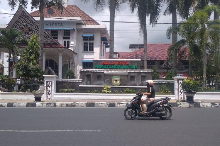 Foto: Kantor Wali Kota Pematangsiantar di Jalan Merdeka, Kecamatan Siantar Barat, Minggu (19/7/2020).