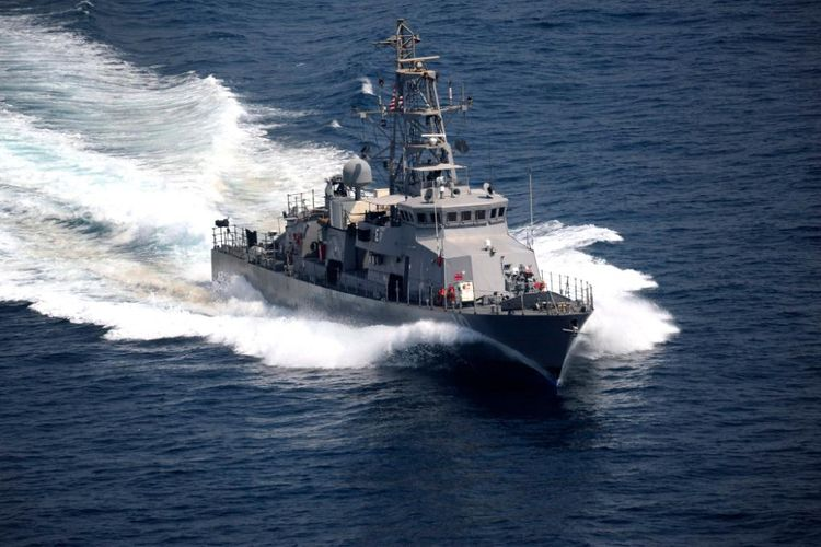 Kapal patroli milik Angkatan Laut AS, USS Firebolt.