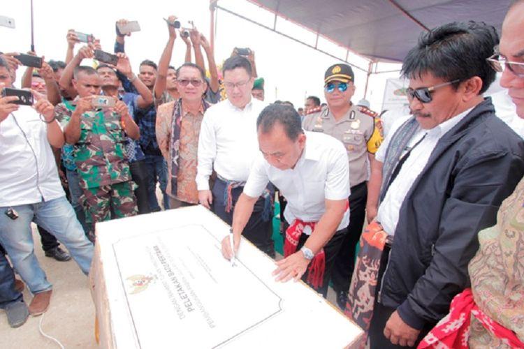 Peresmian pabrik gula PT MSM di Sumba Timur, Sabtu (21/4/2018).