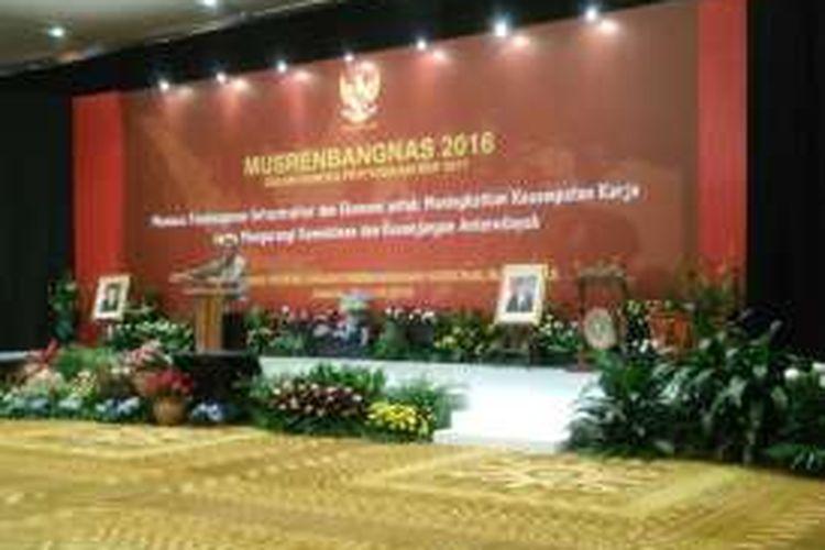 Wakil Menteri Keuangan Mardiasmo mewakili Menteri Keuangan Bambang PS Brodjonegoro menyampaikan arah kebijakan fiskal 2017 dalam  Musrenbangnas 2016, Jakarta, Rabu (20/4/2016).