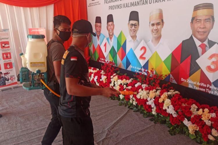 Spanduk bergambar 3 Paslon Gubernur dan wakil gubernur Kaltara (istimewa)