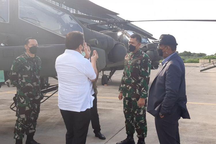 Tim reses Komisi I DPR RI melakukan kunjungan kerja Skadron-11/Serbu di markas Pusat Penerbangan TNI-AD (Puspenerbad) Kota Semarang pada Senin (15/2/2021).