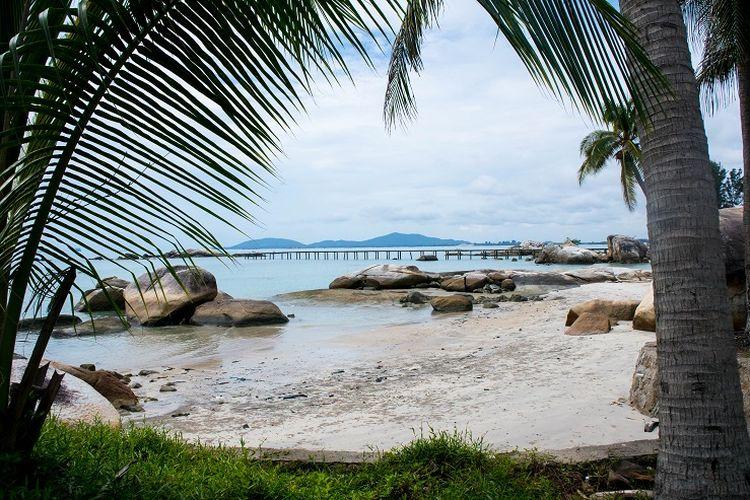 Pantai Parai, Kabupaten Bangka, Sabtu (7/3/2020).