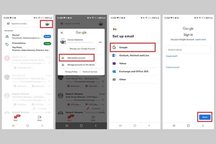 Cara membuat akun Gmail tanpa nomor HP 1