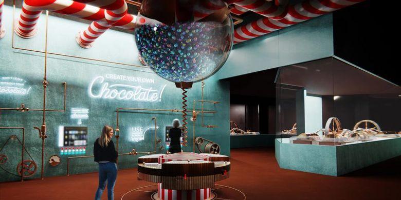 Salah satu museum di World of Wine bernama The Chocolate Story, Portugal.