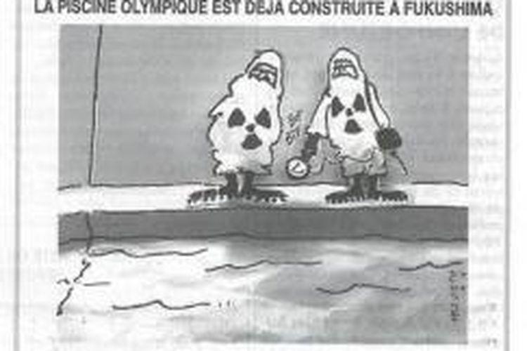 Salah satu kartun yang dimuat majalah mingguan Perancis,