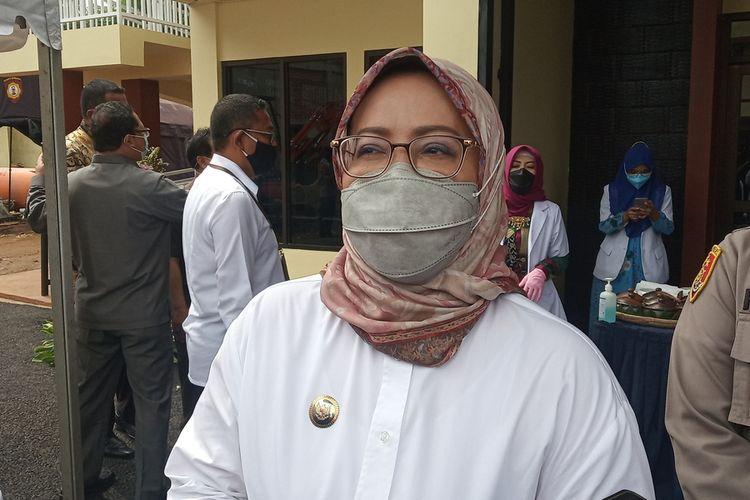 Bupati Bogor Ade Yasin saat ditemui usai melakukan peresmian Aula Sanita Satyawada dan Klinik Pratama Rawat Jalan di Mapolres Bogor, Cibinong, Kabupaten Bogor, Jawa Barat, Rabu (6/1/2021).