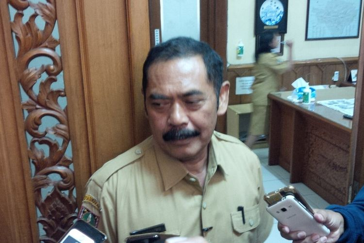 Wali Kota Surakarta, FX Hadi Rudyatmo di Solo, Jawa Tengah, Senin (23/3/2020).