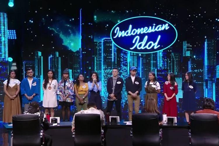 Kontestan Indonesian Idol pada babak eliminasi 1 yang ditayangkan, Senin (28/10/2019).