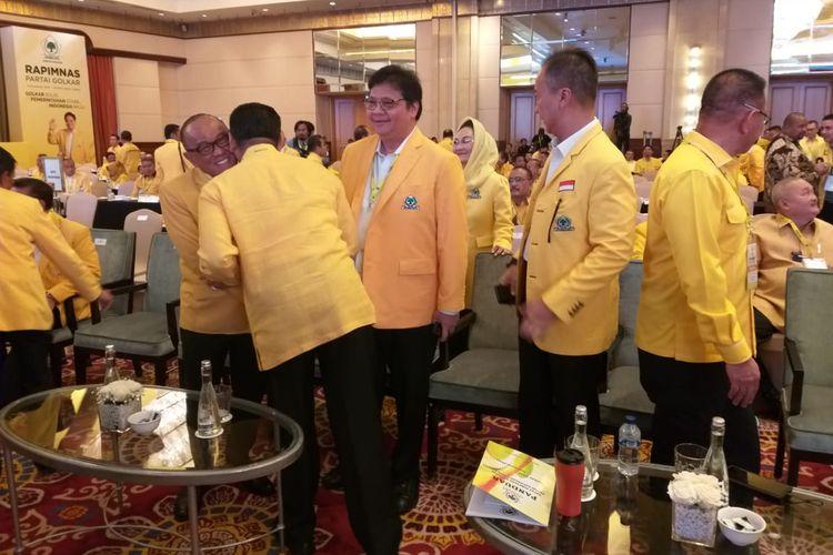 Ketua Umum MPR Bambang Soesatyo menghadiri pembukaan Rapimnas Partai Golkar di Hotel Ritz Carlton Mega Kuningan, Jakarta, Kamis (14/11/2019)