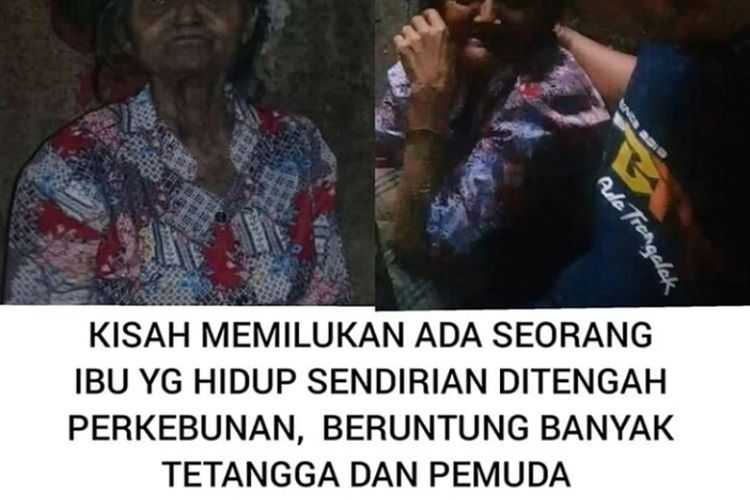 Tangkapan layar unggahan salah satu netizen yang menceritakan gambaran hidup warga Kecamatan Pule Trenggalek, yang memprihatinkan