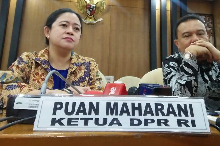 Ketua DPR RI Puan Maharani di Kompleks Parlemen, Senayan, Jakarta, Senin (16/12/2019).