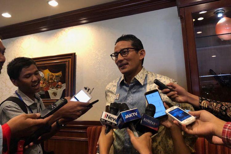Wakil Gubernur DKI Jakarta Sandiaga Uno pada Rabu (9/5/2018).