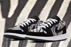"Sneaker Air Jordan 1 ""Zebra"", Bernuansa Nike Dunk"