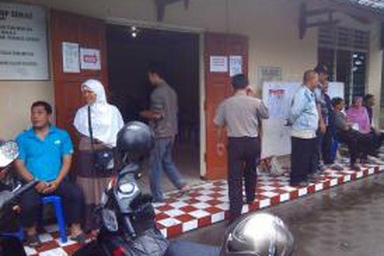 Warga antusias datangi TPS 56 untuk mengikuti pemilihan suara ulang