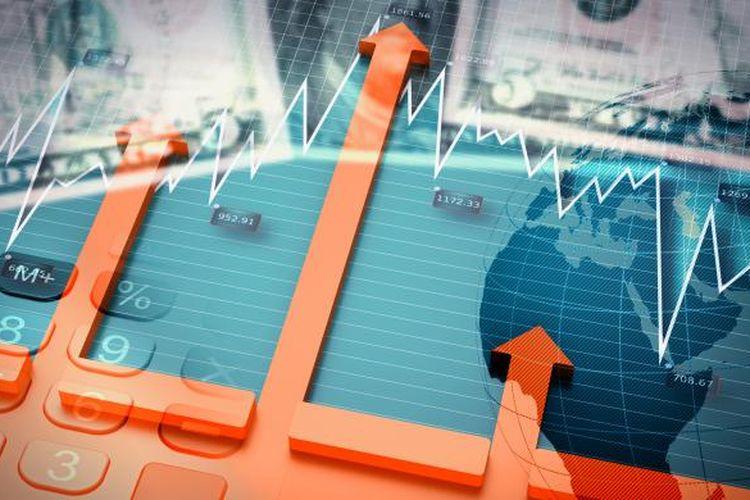 Ilustrasi laju pertumbuhan ekonomi dunia