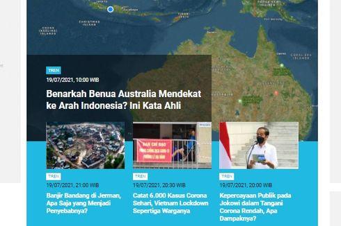 [POPULER TREN] Penjelasan Ahli soal Benua Australia yang Disebut Mendekati Indonesia | Panduan Shalat Idul Adha di Rumah