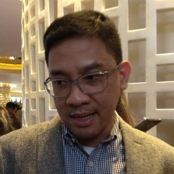 Denny Galant Head of Product Marketing IM Business Samsung Indonesia saat ditemui setelah acara peluncuran Samsung, Galaxy J7 Duo, Kamis (3/5/2018).