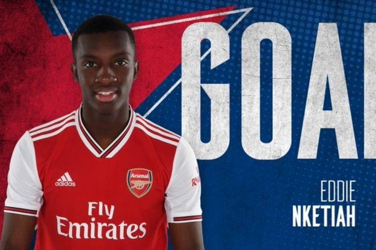 Penyerang muda Arsenal, Eddie Nketiah.