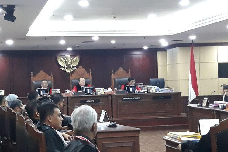 Sidang Sengketa Hasil Pileg di Mahkamah Konstitusi (MK), Jakarta Pusat, Kamis (17/7/2019).