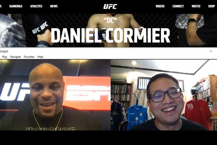 Sesi wawancara KOMPAS.com dengan legenda UFC, Daniel Cormier, pada Rabu (30/12/2020) pagi hari WIB.