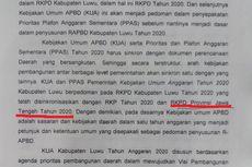 Naskah KUA-PPAS 2020 Diduga Contek Daerah Lain, Rapat di DPRD Diskors
