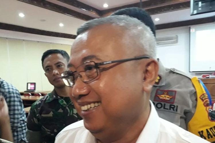 Bupati Bantul, Suharsono di Komplek Pemkab Bantul Rabu (29/5/2019)