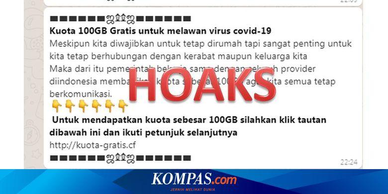 Hoaks Kuota Internet Gratis Dari Pemerintah Selama Pandemi Virus