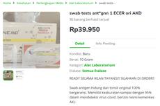 Alat Swab Antigen Covid-19 Ramai Dijual Murah di Marketplace, Amankah?