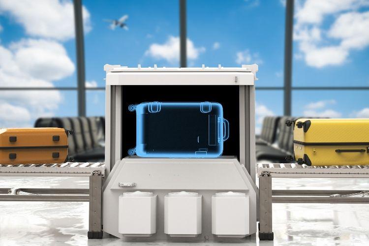Pemeriksaan barang bawaan di bandara.