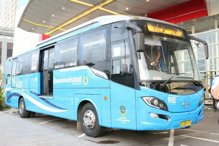 Transjabodetabek Premium dengan trayek TangCity Mall-ITC Kuningan resmi diuji coba per Rabu (10/1/2018).