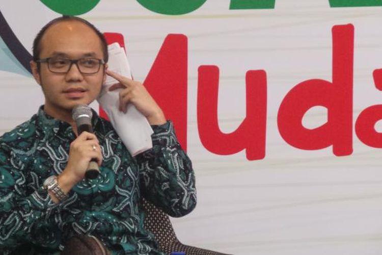 Direktur Eksekutif Charta Politika Indonesia Yunarto Wijaya saat ditemui di Setiabudi Building II, Jakarta Selatan, Selasa (24/5/2016).