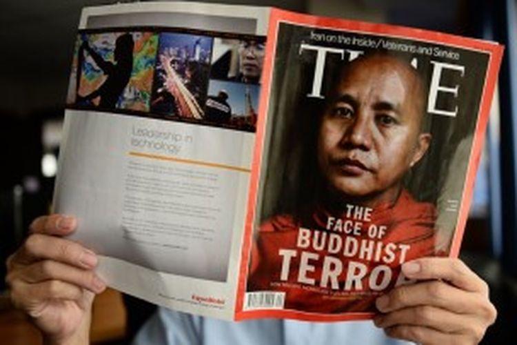 Edisi terbaru majalah TIME yang mengangkat bentrok sektarian di Myanmar, mendapat kecaman pemerintah negeri itu dan warga pengguna jejaring sosial.