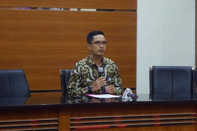 Juru Bicara KPK Febri Diansyah di Gedung KPK Jakarta, Selasa (7/2/2017).