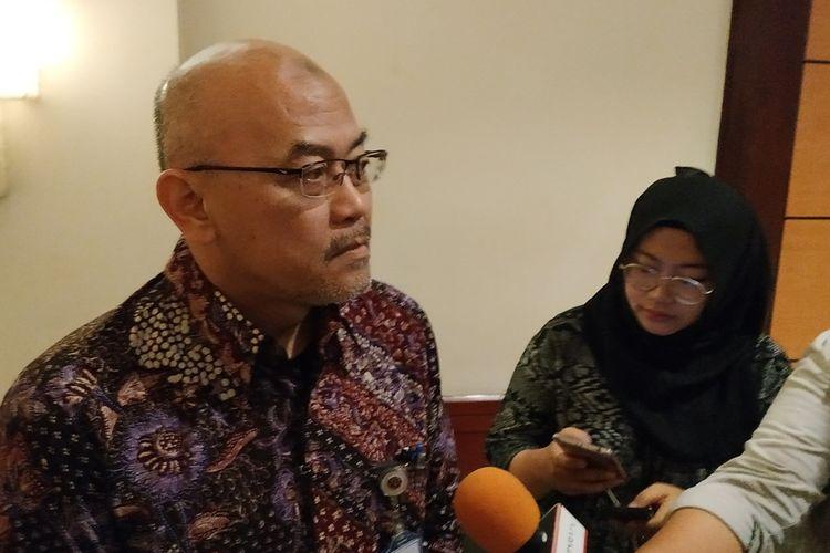 Sekretaris Jenderal Kementerian Perhubungan (Kemenhub) Djoko Sasono memberikan keterangan kepada awak media di Hotel Borobudur, Jakarta, Jumat (6/9/2019).