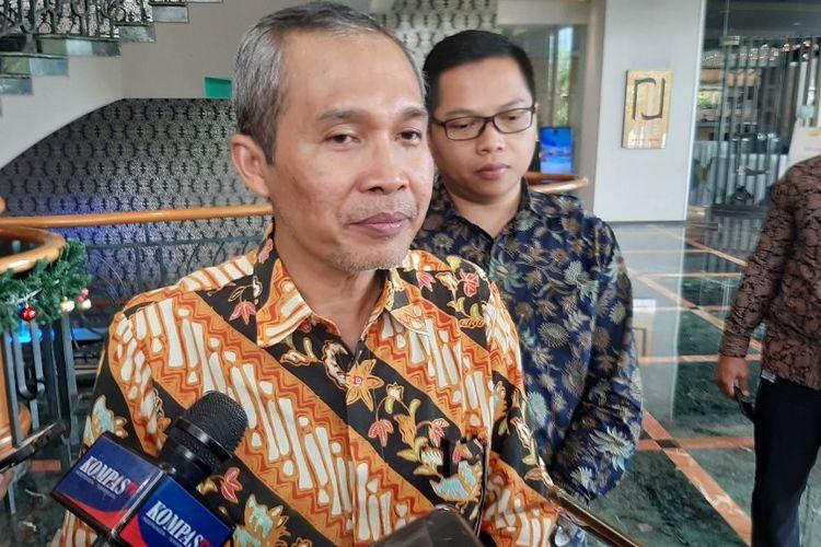 Wakil Ketua KPk Alexander Marwata saat ditemui di Hotel Wyndham Casablanca, Jakarta Selatan, Kamis (28/11/2019).