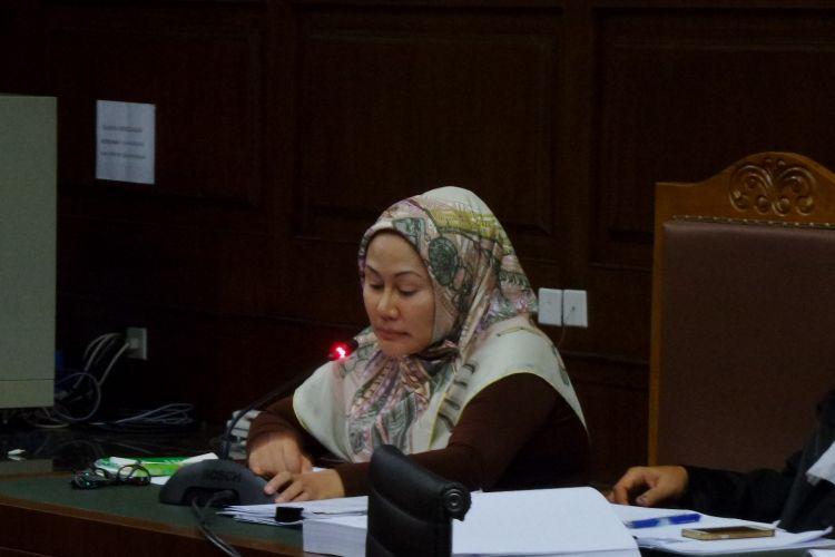 Mantan Gubernur Banten, Atut Chosiyah menjadi terdakwa di Pengadilan Tipikor Jakarta, Rabu (15/3/2017).