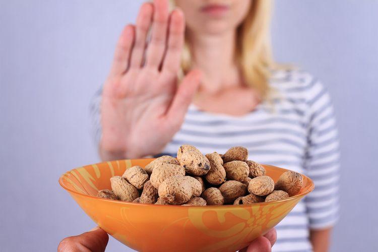 Ilustrasi alergi kacang