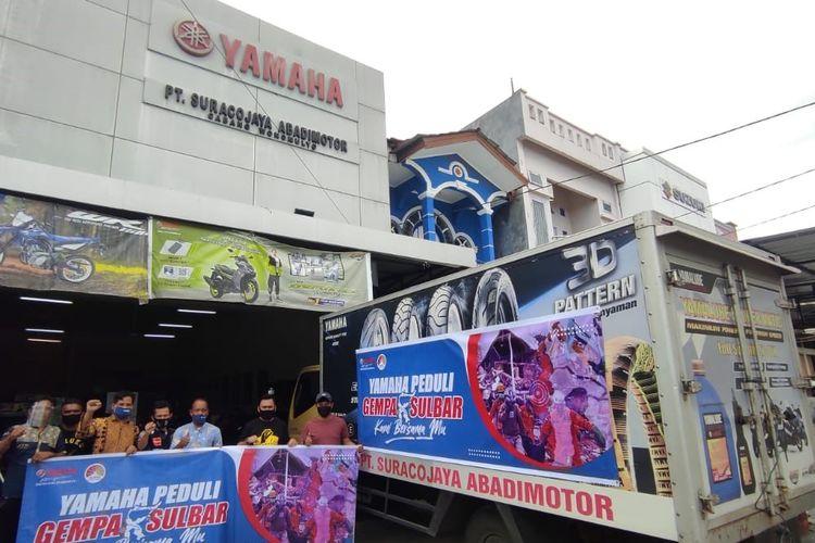 Yamaha bantu korban gempa Sulawesi Barat