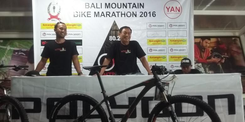 Konferensi pers Bali Mountain Bike Marathon 2016, Denpasar, Senin(9/5/2016)