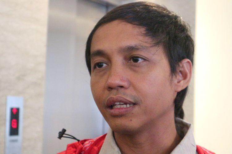 Sekretaris Jenderal PSI, Raja Juli Antoni Ketika Ditemui di kantor DPP PDI, Jakarta Pusat, Minggu (5/11/2017).