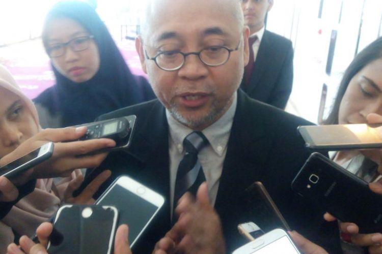 Kepala Badan Pengelola Transportasi Jabodetabek (BPTJ) Kementerian Perhubungan (Kemenhub), Bambang Prihartono di Hotel JS Luwansa, Kuningan, Jakarta, Senin (12/11/2018).